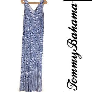 Tommy Bahama Blue Sleeveless maxi Dress Size XL